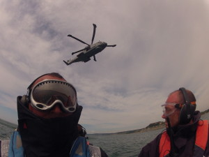 views of the AW101 from the RIB